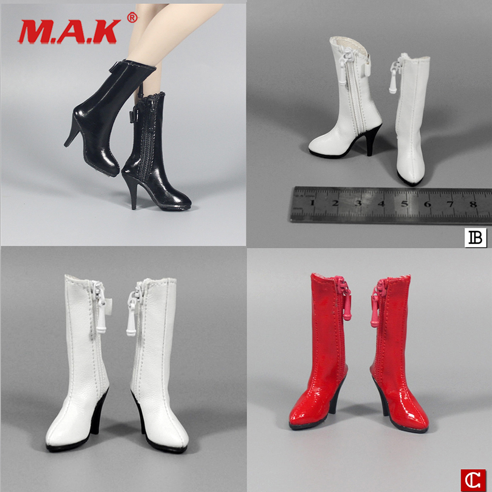 Toys & Hobbies 1:6 1/6 Scale Zy1010 Female High Heel Shoes High Heels Zipper Leather Boots Shoes Empty Inside For 12 Female Action Figure High Standard In Quality And Hygiene