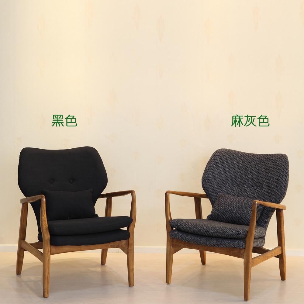 Mizuki Sofa Chair In Birch Wood Ash Lazy Coffee Seat Dining Armchair Restaurant Chairs From Furniture On Aliexpress
