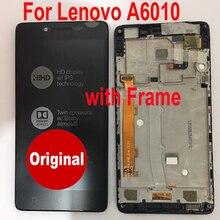 Original melhor sensor de trabalho display lcd tela do painel toque digitador assembléia com quadro para lenovo a6010 k31 peças telefone