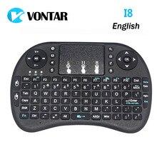 Vontar i8 Мини-Клавиатура английский литий-ионный аккумулятор версия i8 + Air Мыши Дистанционное управление Сенсорная панель Ручной для ТВ Box Ноутбук Планшеты