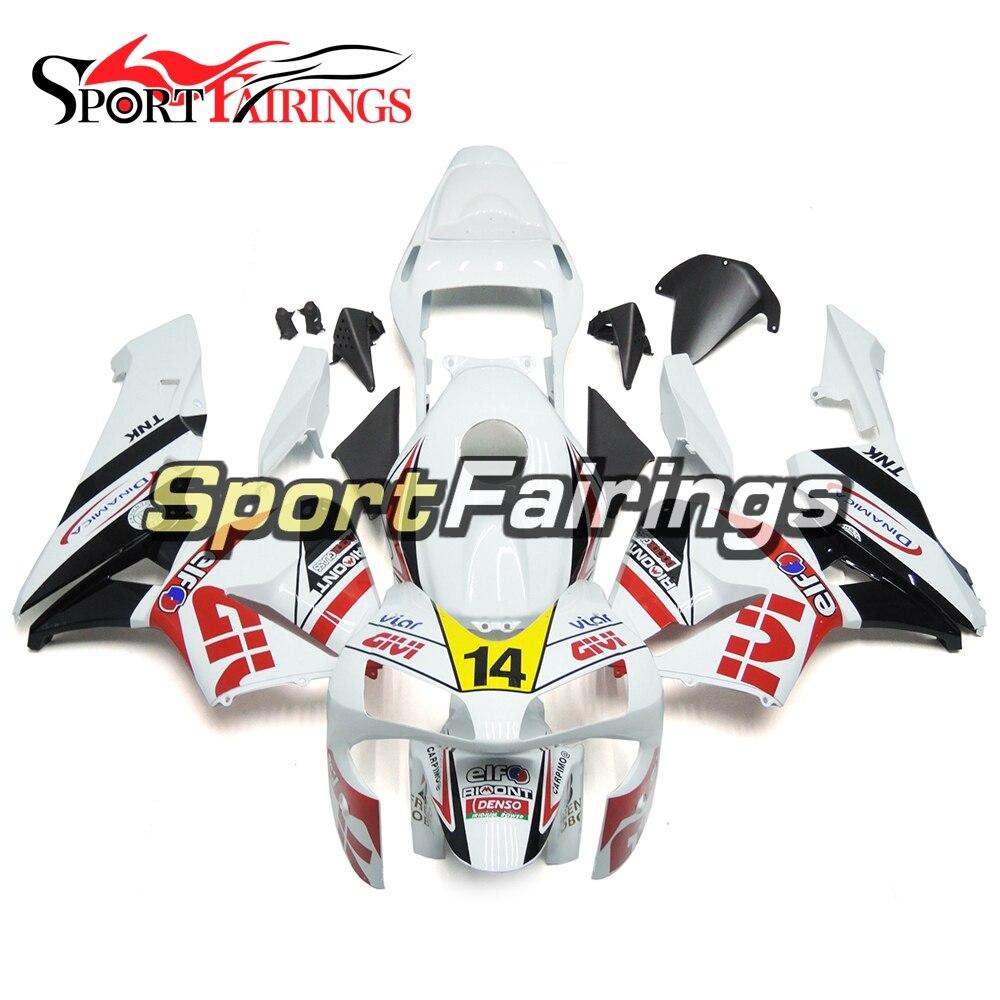 Полное литья ABS пластик белый, черный и розовый цвета мотоцикл обтекатель Наборы для Honda CBR600 CBR600RR F5 03 04 2003 2004 полный Чехлы для мангала