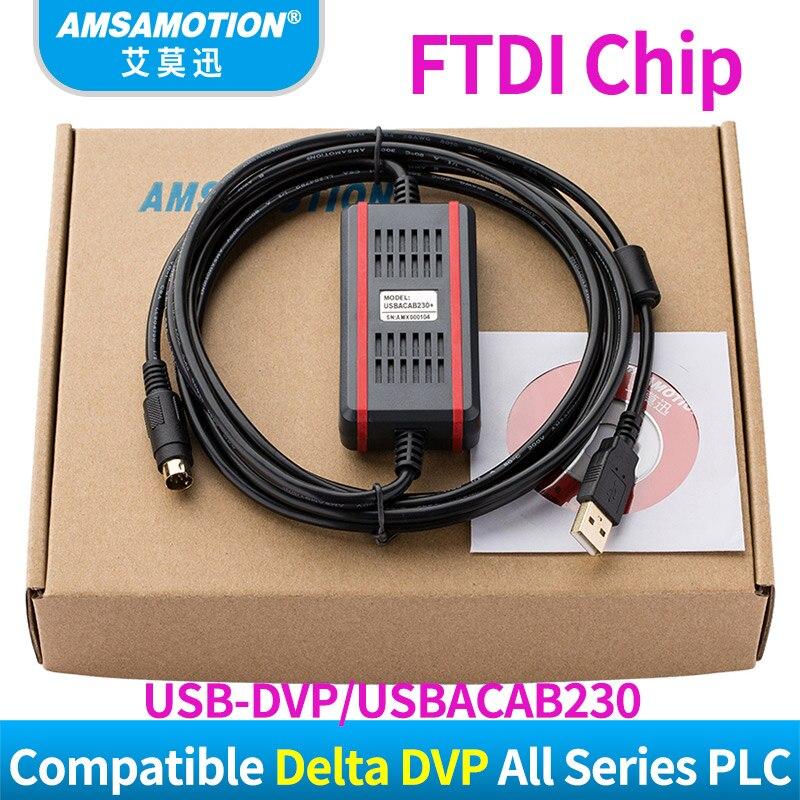 Купить с кэшбэком Upgraded Version Cable USB-DVP Suitable Delta DVP EH ES EC EX SS Series PLC Programming Cable USBACAB230 Download Cable