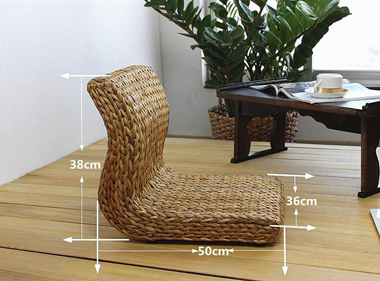 Handmade Japanese Floor Legless Chair Made From Banana Leaves Sitting Room  Furniture Asian Traditional Tatami Zaisu Chair In Living Room Chairs From  ...