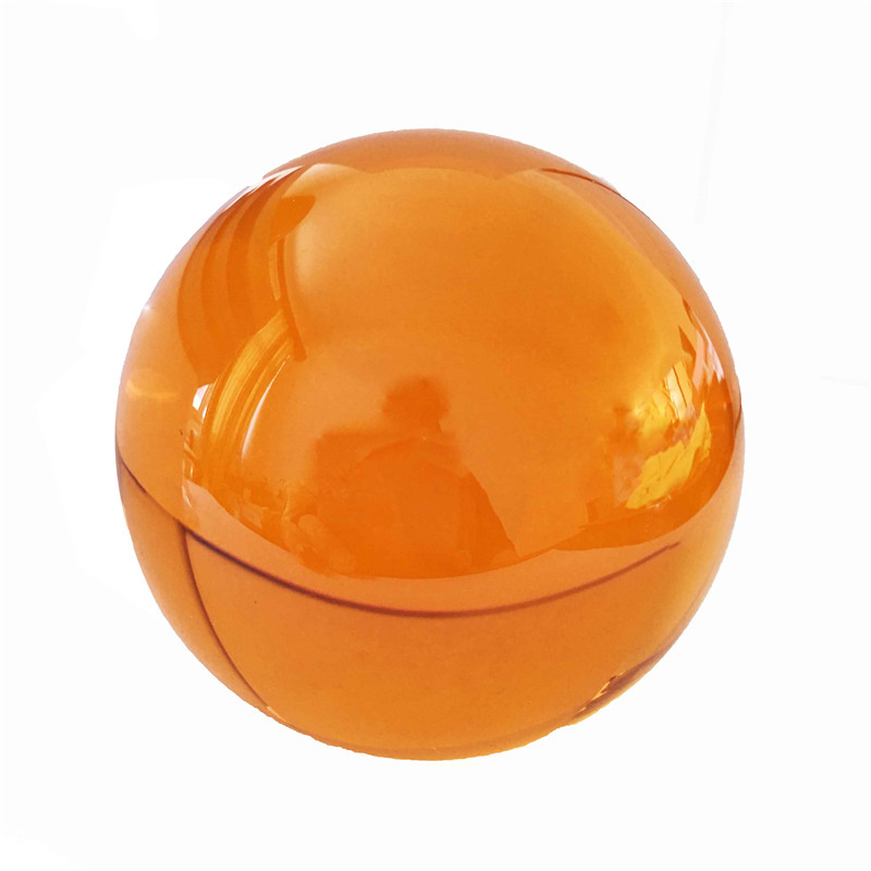 50mm/60mm/70mm/80mm/100mm Amber Color K9 Meditation Crystal Glass Ball No Stand For Decoration