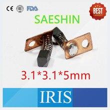 Top venta 10 unids (5 pares) 3*3*5mm Cepillo De Carbón para Corea Del Sur SAESHIN SAEYANG Micromotor Pieza de Mano Accesorios Cepillo De Carbón De Repuesto