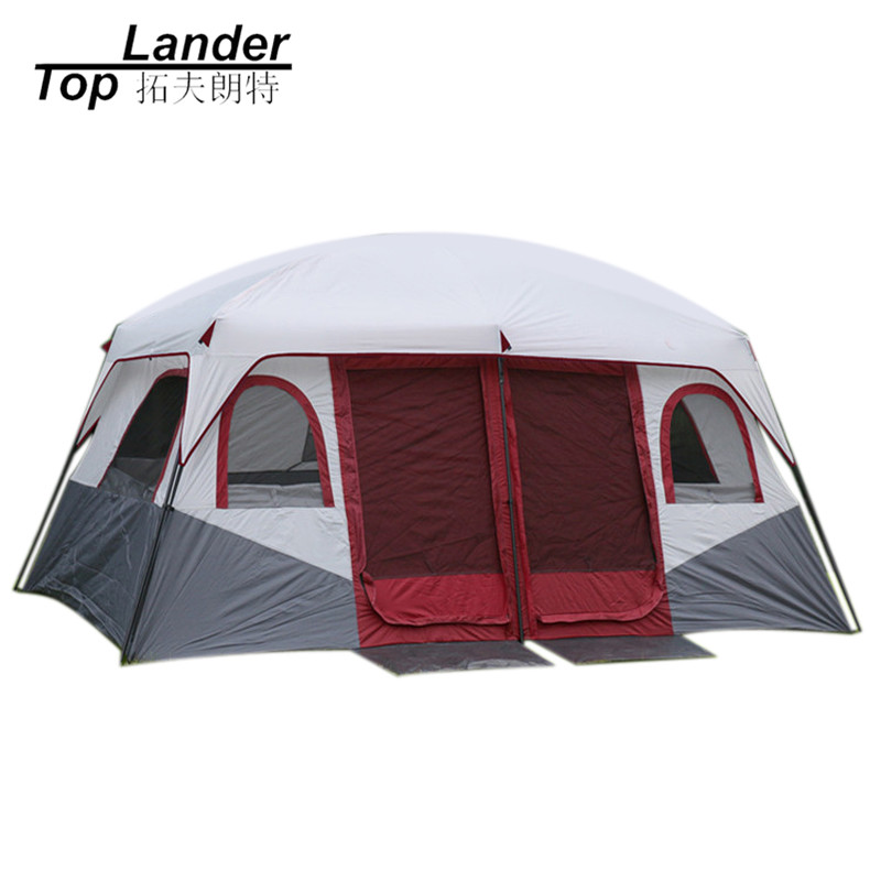 Large Family Camping Tents Waterproof Cabin Outdoor Tent for 8 10 12 Person Event Marquee Tents high quality outdoor 2 person camping tent double layer aluminum rod ultralight tent with snow skirt oneroad windsnow 2 plus