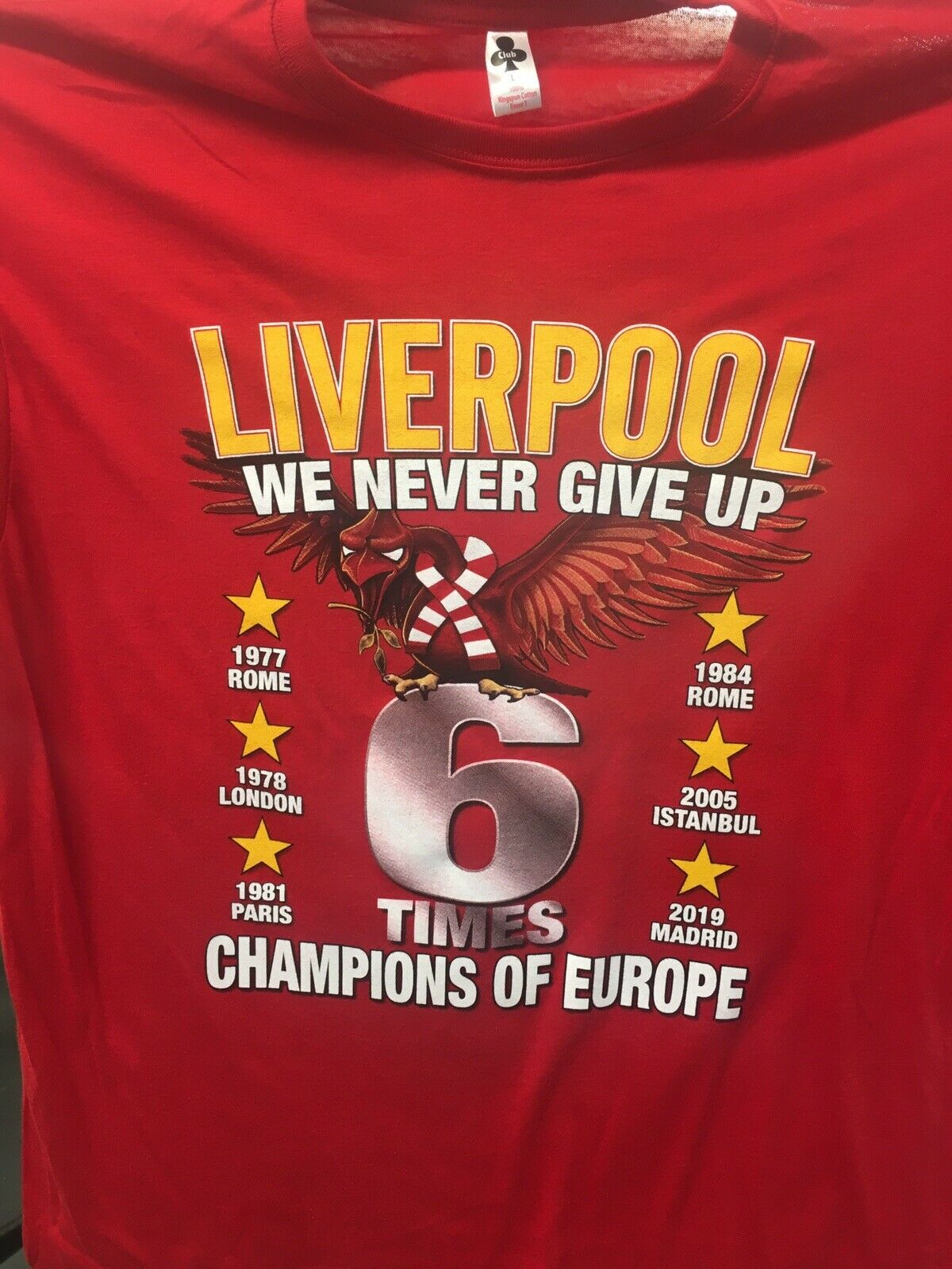 best service fe995 41d3e Champions Winners Liverpool T Shirt Champions League Final Madrid 2019