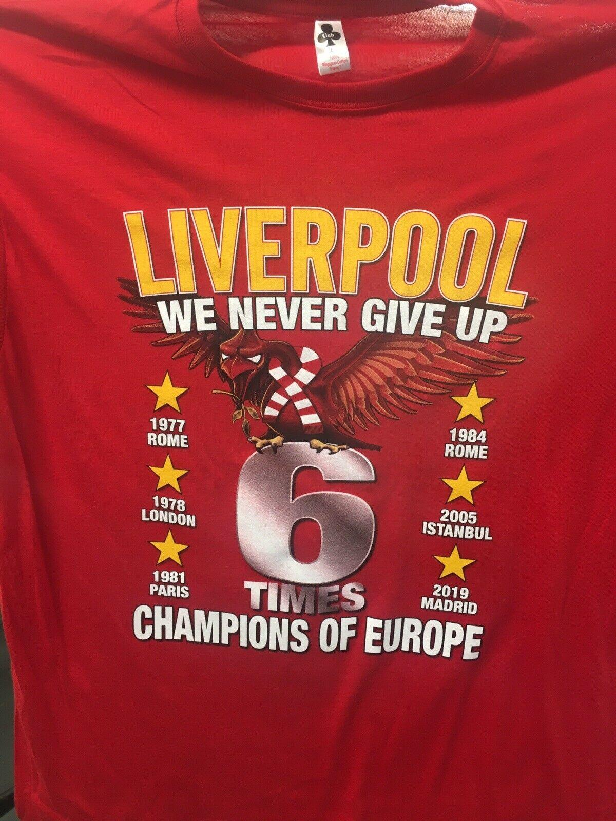 best service 9490d ca6a2 Champions Winners Liverpool T Shirt Champions League Final Madrid 2019