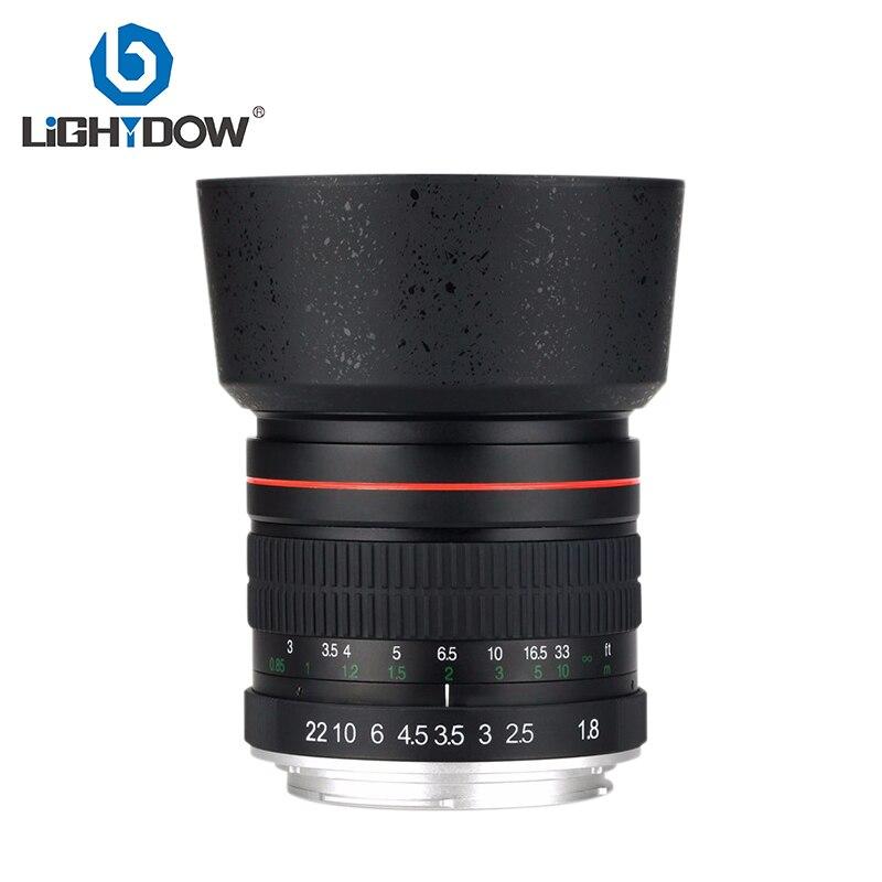 Lightdow 85mm F1.8-F22 objectif de caméra à objectif Portrait à mise au point manuelle pour Canon EOS 550D 600D 700D 5D 6D 7D 60D appareils photo reflex numériques