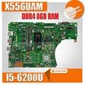 DDR4 X556UAM материнская плата для ноутбука ASUS X556U X556UV X556UQ X556UQK Материнская плата Тест оригинальная материнская плата DDR4 8 Гб RAM I5-6200U