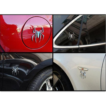 Universal Car styling 3D Metal spider auto Sticker FOR citroen xsara picasso radio 2 din android bmw e61 touareg skoda rapid image