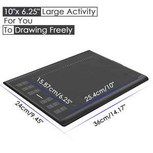 Image 2 - Huion New 1060 Plus Professional Digital Drawing Tablet 8192 Levels Pen Pressure 12 HotKey Graphic Tablets with Two Digital Pens