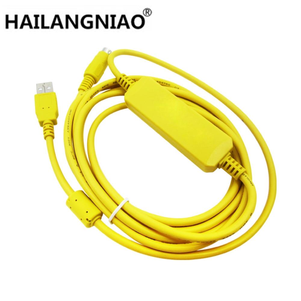 1PCS USB-SC09-FX PLC Yellow Programming Cable SC-09 SC09 FX FX1N / FX2N / FX1S / FX3U PLC programming cable plc srt2 od04