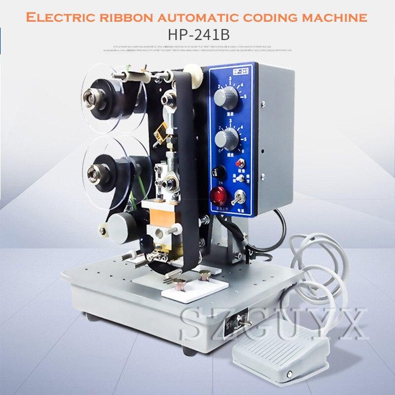 HP-241B Electric Printing Machine, Electric Ribbon, Automatic Coding Machine, Production Date, Ribbon Printing Machine