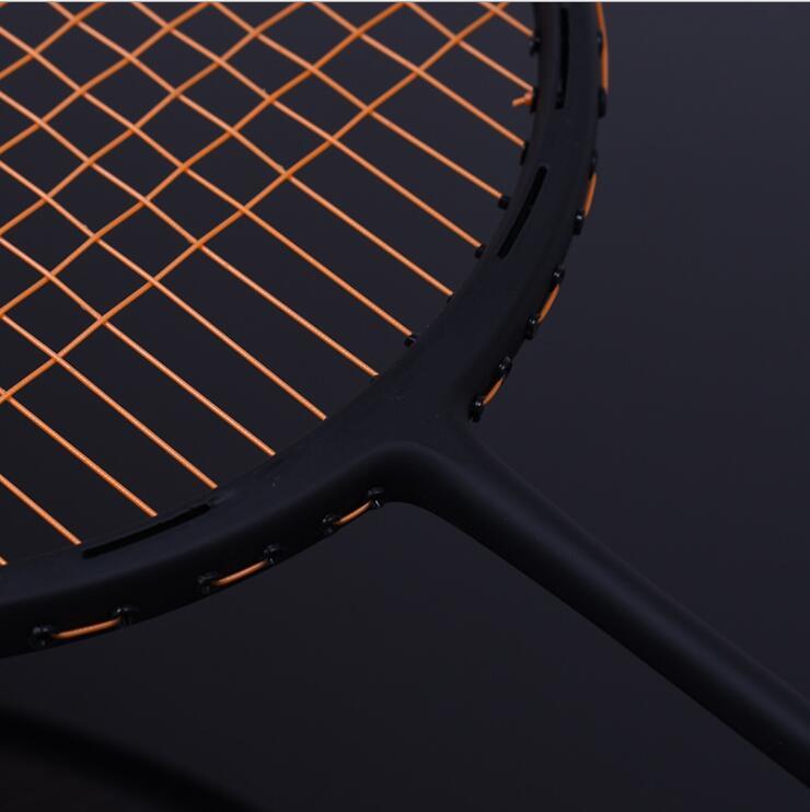 32LBS ZARSIA Attaque VT66 46 T 4U Badminton Raquette 100% badminton de carbone raquette Livraison gratuite noir badminton raquette