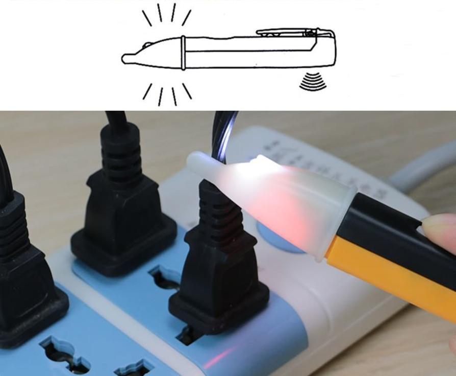 AC Electric Voltage Power Detector Sensor Tester Non-Contact Pen Stick 90~1000V LED Light Voltage Alert Pen