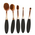 5Pcs Fashion Women Beauty Gold Rose Oval Puff Toothbrush Makeup Foundation Powder Lip Eyeshadow Brushes Set