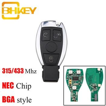BHKEY 3Buttons Smart Remote Key Keyless Fob For Mercedes Benz 315Mhz/433Mhz For Mercedes Benz year 2000+ NEC&BGA Control