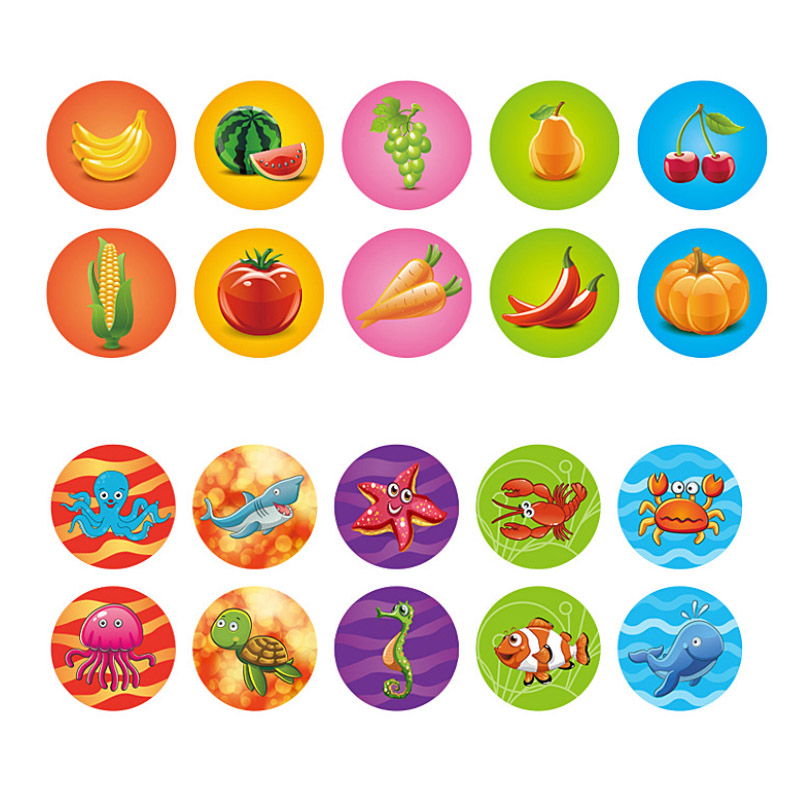 Image 4 - Round Multicolor Fun 10 Pcs Cute Panda Child DIY Scrapbook Kids Stamp Cartoon Rubber Stamps Scrapbooking Reward Toy-in Stamps from Home & Garden