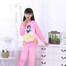 6a3e25936d 3-12Yrs Winter Kids Loungewear Coral Fleece Homewear Pyjama Set Children  Extreme Soft Pjs Girls