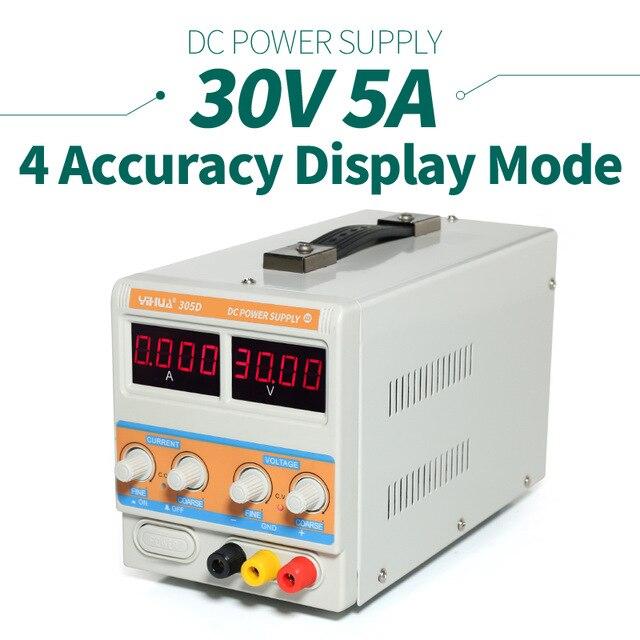 YIHUA PSN 305D 30V/5A Switching Regulated Adjustable Digital DC Power Supply SMPS 110V/220V EU/US PLUG