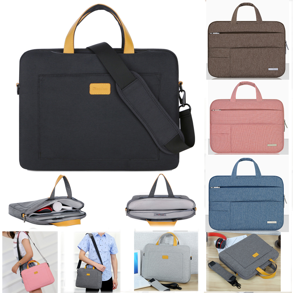 13 14 15.6 Man Felt Shoulder Handbag Notebook Laptop Sleeve Bag Pouch Case For Xiaomi Acer Dell HP Asus Lenovo Macbook Pro Air-in Laptop Bags & Cases from Computer & Office