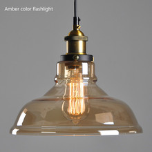Nordic Loft Bar Glass pendant light American Country Style Kitchen Island Restaurant  Cafe Single Head Glass  modern glass light loft american country vintage pendant light farmhouse cafe bar hemp bamboo hanging light