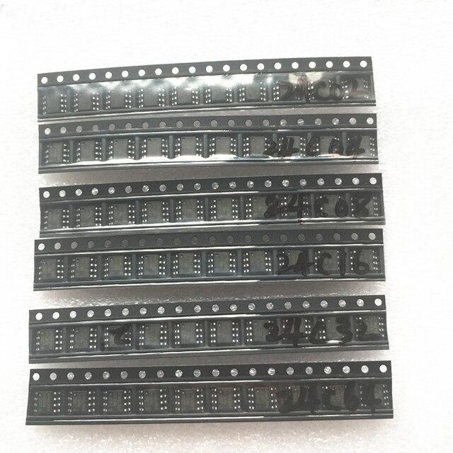 6 giá trị * 10 chiếc AT24C02 AT24C04 AT24C08 AT24C16 AT24C32 AT24C64 SOP-8 EEPROM Bộ 24C02/04/ 08/16/32/64 SOP8 DIY điện tử bộ