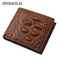 JINBAOLAI Brand Men Short Wallets Fashion Alligator Wallet Card Holder Purse With Coin Pocket Carteira Wallet