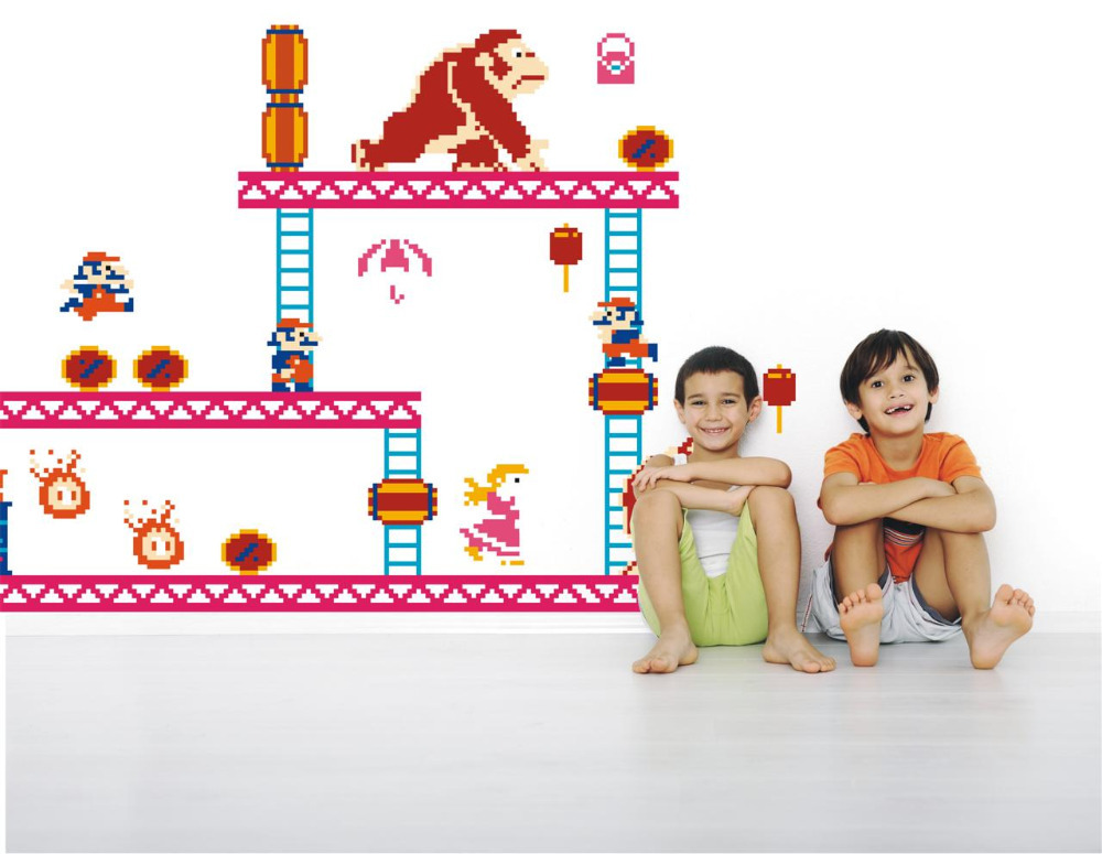Nintendo Donkey Kong U0026 Mario Wall Decals Stickers BedRoom Gift DS !!! In Wall  Stickers From Home U0026 Garden On Aliexpress.com | Alibaba Group