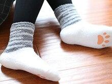 Женщин девушки Cat Стиль Мясо Мяч Сладкий Симпатичные Носки Плюшевые Анти противоскользящие Теплый Пол Носки Японский Мультфильм Противоскользящие Зимние Номер Носки