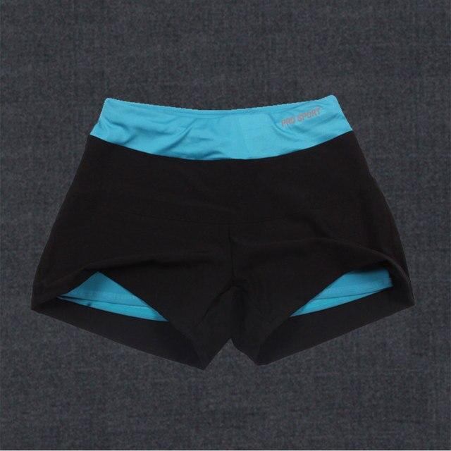 Women Yellow Reversible Layered Sports Shorts