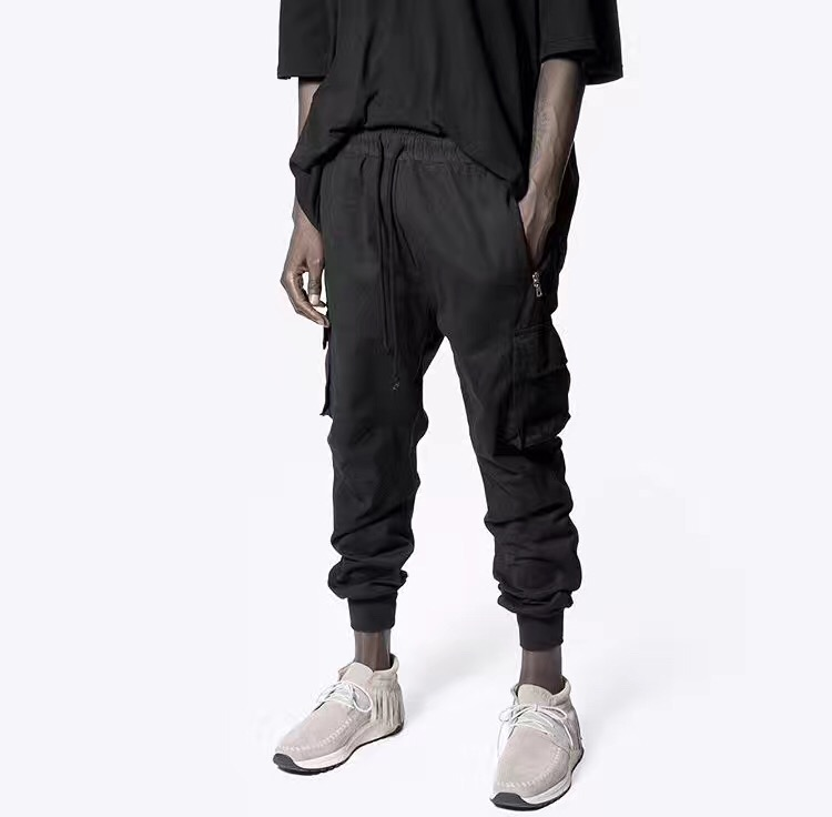 ФОТО Best quality 2017 Long Pants Men Casual Sweatpants Baggy Jogger Trousers Fashion Fitted Bottoms hiphop Cargo Pants Huge Pockets