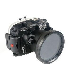Image 3 - 130FT/40M עבור Canon PowerShot G1 X Mark II מתחת למים עומק צלילה מקרה עבור Canon G1X השני עמיד למים מצלמה דיור כיסוי תיבה
