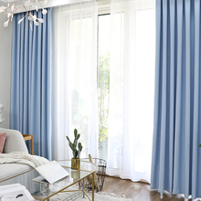 Modern Blackout Curtains for Living Room Bedroom Window Treatment Drapes Solid Finished