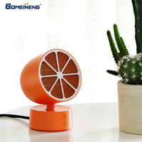 BOMEINENG Lemon Portable Mini Heater Electric 2 Gears Hand Warmers with Fan Handy Heater for Room Office Desktop Warmer Fan