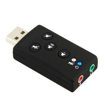 7.1 External USB Sound Card USB to Jack 3.5mm Headphone Audio Adapter Earphone autio interface For Computer Mac Windows Linux 1