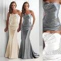 Borgonha sereia Azul Royal Vestido de Noite Cinza Prata Barato Longos Vestidos de Noite 2017 Prom Dress Vestidos De