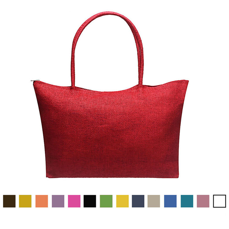 Shoulder-Bag Straw Beach-Bags Candy-Color Large Hot-Sale Popular Women Casual Simple