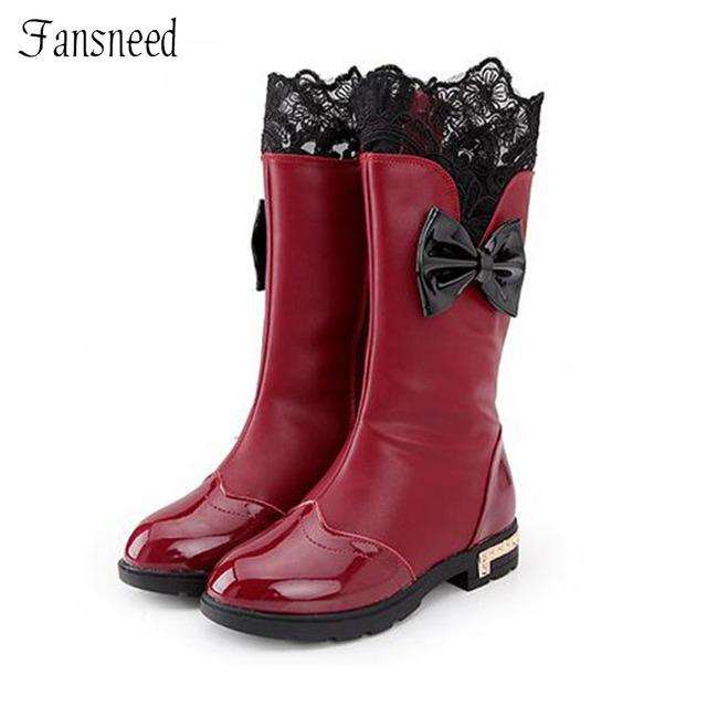 Zapatos de las muchachas del Otoño Nuevos de Alta superior Zapatos Arco Botas Casuales Salvaje Estudiante Botas de Moda Cuatro Colores Tamaño 28-38