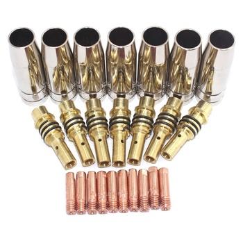 24 szt 15AK dysze styki MIG spawacz materiały eksploatacyjne narzędzie spawalnicze akcesoria nadające się do 15AK palnik do spawania tanie i dobre opinie Palnik spawalniczy Co2 torch 15AK Torch Consumable good