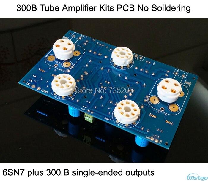 Kits d'amplificateur de Tube 300B PCB sans Tubes inclus pas de soudure 6SN7 préampli 5U4G redresseur HIFI Audio bricolage