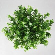 Домашний цветок для украшения сада композиция искусственный букет пластик 7 ветвей листва трава поддельные зеленые растения Свадебный Искусственный лист