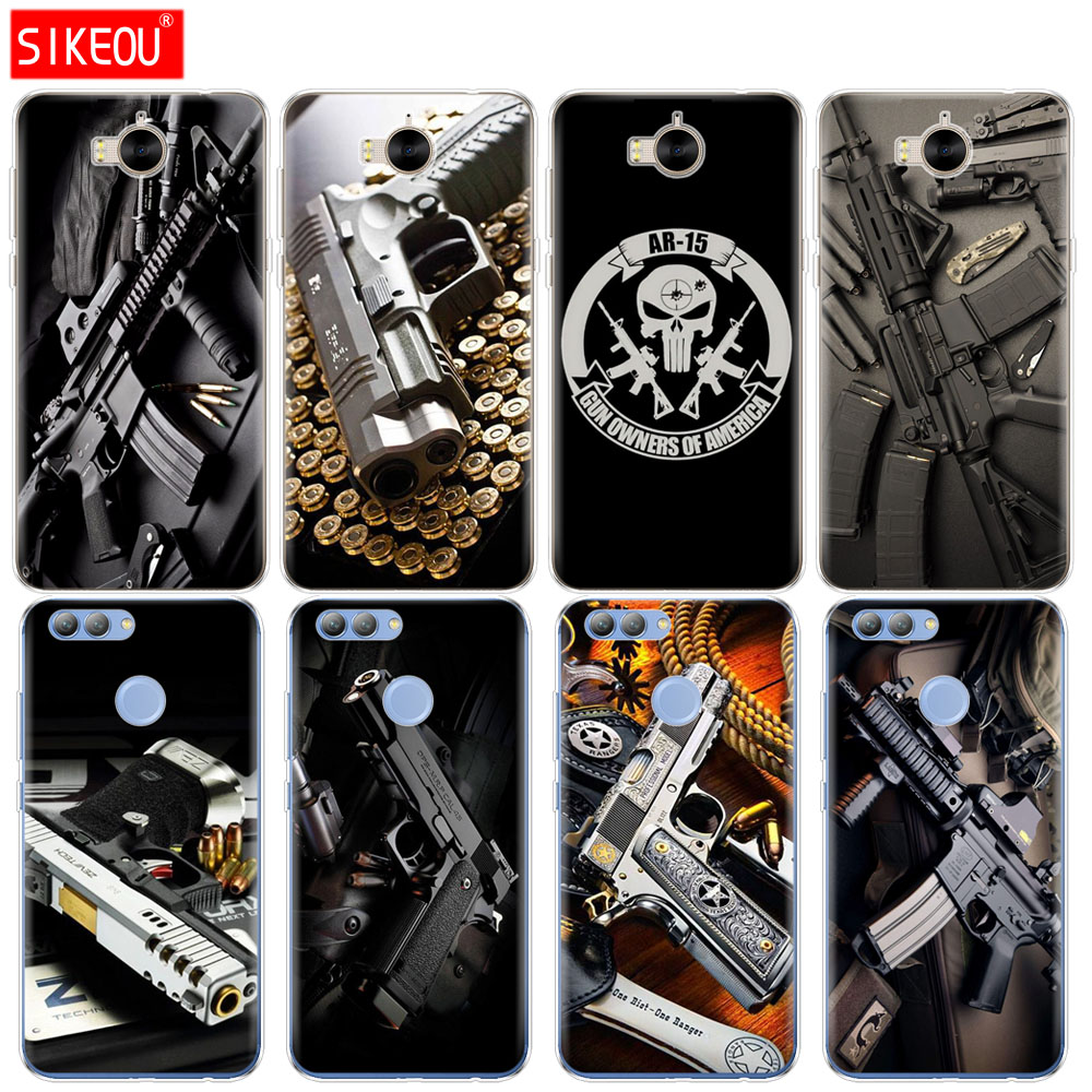 Cellphones & Telecommunications Industrious Silicone Phone Cover Case For Huawei Y3 Y6 Y5 2 Ii 2017 Nova 3e 2s 2 Lite Plus Weapons Rifle Guns Sniper Pistol Bullet Mild And Mellow