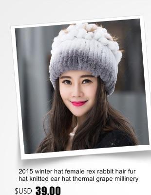 Mujeres visón de punto sombrero del invierno del sombrero de piel con piel  de zorro de plata Top femeninos de lujo ajustable visón Real sombreros de  piel H ... 122a3888393