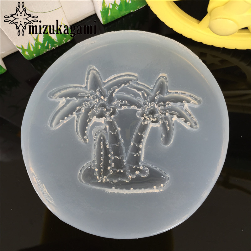 1pcs UV Resin Jewelry Liquid Silicone Mold Plants Coconut Tree Resin Molds For DIY Intersperse Decorate Making Molds