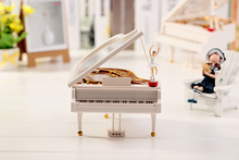 1PC New Cute Lovely Dreamer White Piano Dancer Dancing Alice Ballet Girl Music Musical Box Toy
