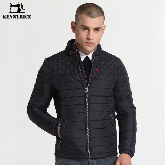 Kenntrice Winter Jackets Mens Nylon Quilted Jacket Male Fashion