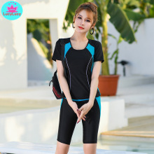 2019 new summer women's Korean fashion sexy tight-fitting swimwear trousers was thin conservative bikini Polyester  High-Rise