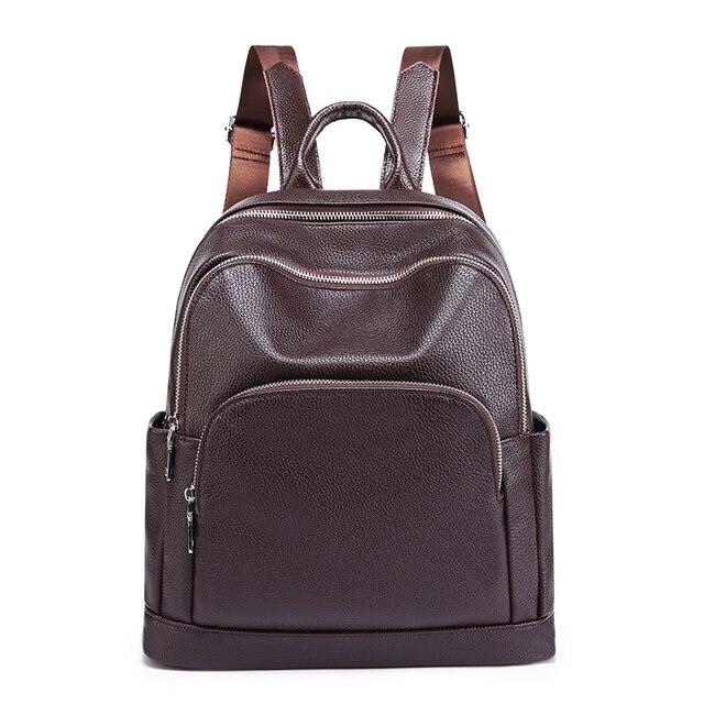 أزياء المرأة على ظهره حقيبة جلدية أصلية النساء الفاخرة حقائب كتف سيدة حقيبة تسوق سفر أكياس